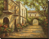 Arched Passageway Stretched Canvas Print by Enrique Bolo