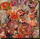Garden of a Joyful Day Opspændt lærredstryk af Joan Elan Davis