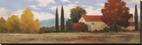 Burgundy Farmhouse I Stretched Canvas Print by Kanayo Ede