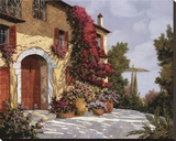 Bougainvillea Stretched Canvas Print by Guido Borelli