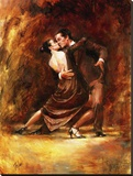 The Tango Stretched Canvas Print by Richard Judson Zolan