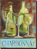 Chardonnay Stretched Canvas Print by Jennifer Sosik