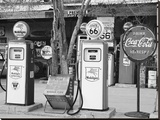 Gas Station Route 66 Stretched Canvas Print by Richard Cummins