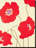 Poppy Party I Stretched Canvas Print by Monica Kuchta