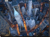 Aerial view of Wall Street Stretched Canvas Print by Cameron Davidson