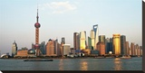 Shanghai Skyline Stretched Canvas Print by Xiaoyang Liu