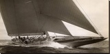 J Class Sailboat, 1934 Stretched Canvas Print by Edwin Levick