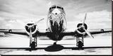 Passenger Airplane on Runway Reproducción en lienzo de la lámina por Philip Gendreau