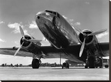 1940s Passenger Airplane Stretched Canvas Print by H. Armstrong Roberts