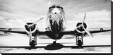 Passenger Airplane on Runway Stretched Canvas Print by Philip Gendreau