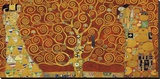 Tree of Life (red variation) Stretched Canvas Print by Gustav Klimt
