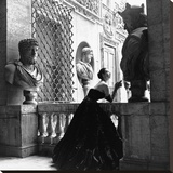 Evening Dress, Roma, 1952 Stretched Canvas Print by Genevieve Naylor