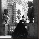 Vestido de noche, Roma, 1952 Reproducción en lienzo de la lámina por Genevieve Naylor