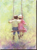 Summer Swing Stretched Canvas Print by Richard Judson Zolan