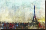 Paris Tango Stretched Canvas Print by Kay Daichi