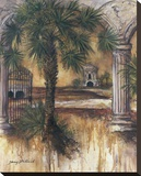 Gateway Of Palms Stretched Canvas Print by Sherry Strickland