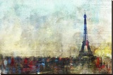 Paris Tango Stretched Canvas Print by Kay Daichi