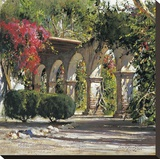 Sunlit Archway Stretched Canvas Print by Cyrus Afsary