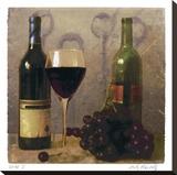 Wine I Stretched Canvas Print by Judy Mandolf