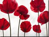 Red Friends Impressão em tela esticada por Luca Villa
