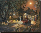 The Silver Wolf Lodge Stretched Canvas Print by Aaron B. Faulkner