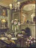 The Dining Room Stretched Canvas Print by  Foxwell