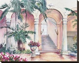 Viscaya Courtyard Stretched Canvas Print by Timothy Clark