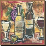 Vino lll Stretched Canvas Print by Tanya M. Fischer