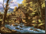 Rocky Creek Mill Stretched Canvas Print by Rudi Reichardt