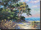 Tropic Glow Stretched Canvas Print by  E. Wood