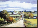 Country Road Stretched Canvas Print by Kent Wallis