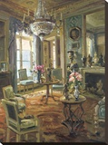 The Drawing Room Stretched Canvas Print by  Foxwell
