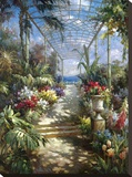 Tropical Breezeway Stretched Canvas Print by James Reed