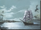 Peaceful Harbor Stretched Canvas Print by Robert G. Radcliffe