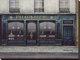 Pharmacie Stretched Canvas Print by Andre Renoux