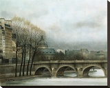 Le Pont Neuf Stretched Canvas Print by Andre Renoux