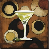 Martini Cocktail Stretched Canvas Print by Susan Osborne