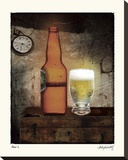 Beer 2 Stretched Canvas Print by Judy Mandolf