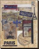 Paris Collage Stretched Canvas Print by Susan Osborne