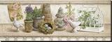 Etagère de jardin II Reproduction transférée sur toile par Lisa Canney Chesaux