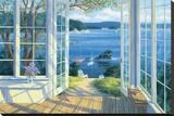 Island View Stretched Canvas Print by Randy Van Beek