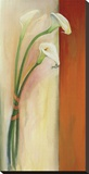 Calla Tres Stretched Canvas Print by Mei-Yu Lo