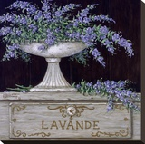Lavande Stretched Canvas Print by Janet Kruskamp