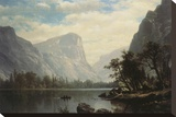 Mirror Lake Stretched Canvas Print by Albert Bierstadt