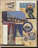 New York Collage Stretched Canvas Print by Susan Osborne