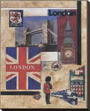 London Collage Stretched Canvas Print by Susan Osborne