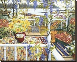 Vine Covered Veranda Stretched Canvas Print by John Powell