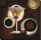 Manhattan Cocktail Stretched Canvas Print by Susan Osborne