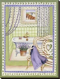 Lavander Bath Stretched Canvas Print by Katharine Gracey