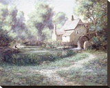 The Old Watermill Stretched Canvas Print by Jon McNaughton